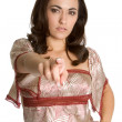 Portrait of woman pointing — Stock Photo #21821667