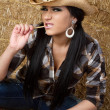 Country girl — Stock Photo #21821731