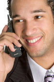 Businessman on phone — Stock Photo