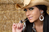 Sexy country girl — Stock Photo