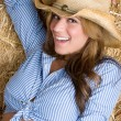 Laughing Cowgirl — Stok fotoğraf #2401151