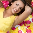 Rose Petals Woman — Stock Photo #2439275