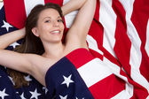 Patriotic Girl — Stock fotografie