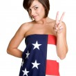American Flag Girl — Stock Photo #3378422