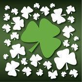 St Patricks Day Green Shamrock — Stock Vector