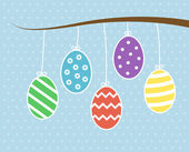 Hanging Easter Eggs — 图库矢量图片