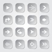 Arrow Web Buttons — Vector de stock