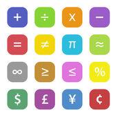 Math Financial Symbols — Stock Vector