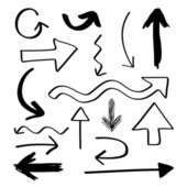 Hand Drawn Arrows — Stock Vector