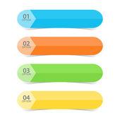 Web Color Tabs — Stock Vector