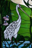 Sandhill Crane Stained Glass — Stock Photo