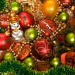 Chrismas-tree Decorations — Stock Photo