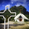 Churcch at Bora Bora — Stock Photo