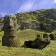 Stock Photo: Moais at Easter island, Pacific.