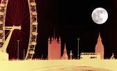 London Skyline at Night — Stock Photo