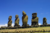 Moais at Easter island, Pacific. — Stockfoto