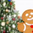 Stock Photo: Closeup gingerbread man