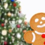 Closeup gingerbread man — Stock Photo