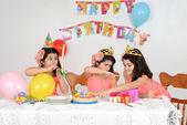 Little girls birthday party — Stock Photo
