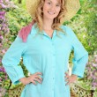 Stock Photo: Country womin garden