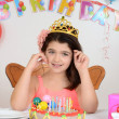 Stock Photo: Young girl birthday party