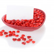Stock Photo: Valentines candy with blank card