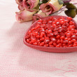 Stock Photo: Valentines candy with roses
