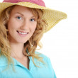 Young woman wearing straw hat — Stock Photo #19883671