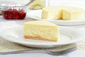 Slice of new york style cheesecake — Stock Photo