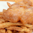 Macro fish and chips shallow DOF - Stock Photo