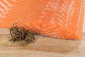 Salmon with rosemary — Stock Photo