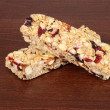 Fruit and nut granola bars — Stock Photo