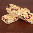 Stock Photo: Fruit and nut granola bars
