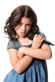 Young girl singer with attitude — Stock Photo