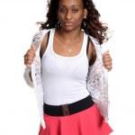Black woman fashion model — Stock Photo