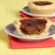 Butter tart on a plate — Foto de Stock