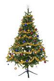 Isolierte geschmückten weihnachtsbaum — Stockfoto