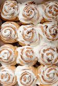 Top view cinnamon buns — Stock Photo