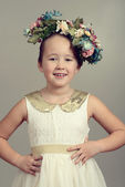 Little girl fashion model — Stockfoto
