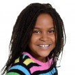 Portrait little black girl — Stock Photo