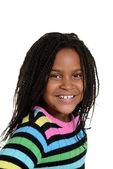 Portrait little black girl — Stock Photo