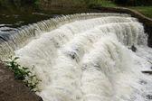 Weir on River Wye Monsal Dale — Stock Photo