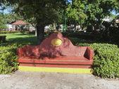 Stone bench Huatulco — Stock Photo
