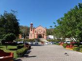 Huatulco Square and church — Stock Photo