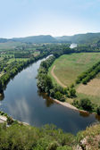 Bend in the Dordogne from Chateau Beynac — Foto de Stock