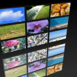 Stock Photo: Big panel of TV�s