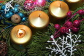 Candela di Natale — Foto Stock