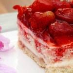 Piece of strawberry cake — Stock Photo #22837890