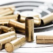 Empty shells of small-bore rifle — Stock Photo #40847443