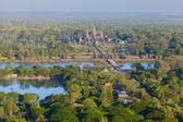 Aerial view of Angkor Wat — Stock Photo